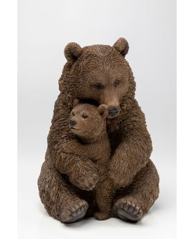 DECO OBJECT CUDDLE BEAR FAMILY 26CM