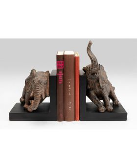 BOOKEND  ELEPHANTS 42CM (2/SET),GREY