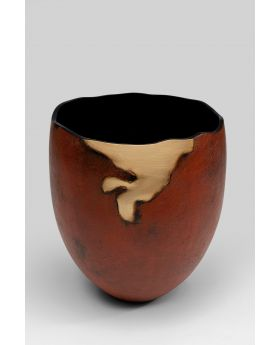 VASE FLOW ROUND,BROWN