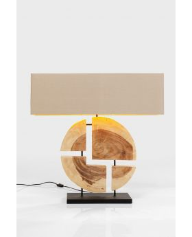 Table Lamp Geometrix Brown (Excluding Bulb)
