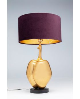 TABLE LAMP PUMPKIN,GOLDEN  (EXCLUDING BULB)