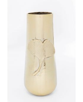 Vase Gingko Leaf 42 Gold