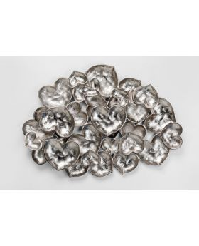 Wall Decoration Leaves 79X107Cm,Silvery