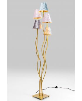 Floor Lamp Flexible Velvet Brass Cinque (Excluding Bulb)