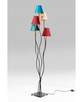 FLOOR LAMP FLEXIBLE VELVET BLACK CINQUE  (EXCLUDING BULB)