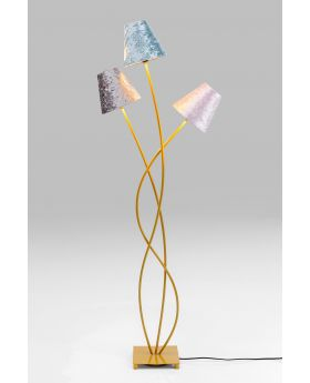 Floor Lamp Flexible Velvet Brass Tre (Excluding Bulb)