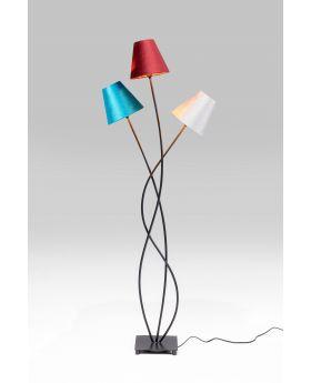 Floor Lamp Flexible Velvet Tre,Black (Excluding Bulb)