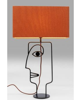 Table Lamp Face Wire Orange (Excluding Bulb)