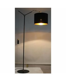 Floor Lamp Salotto Black (Excluding Bulb)