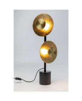 Table Lamp Disc Due Golden (Excluding Bulb)