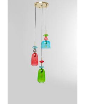 Pendant Lamp Goblet Spiral,Multicoloured (Excluding Bulb And Socket)