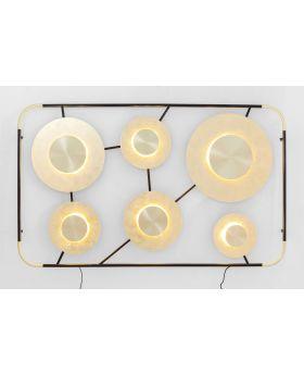Wall Lamp Disc 6Light,Golden (Excluding Bulb)