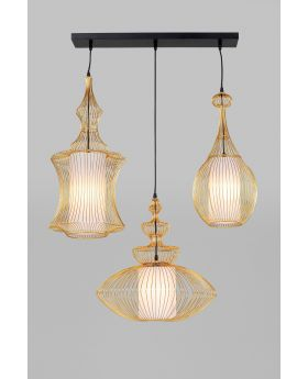 Pendant Lamp Swing Iron Tre Gold (Excluding Bulb And Socket)