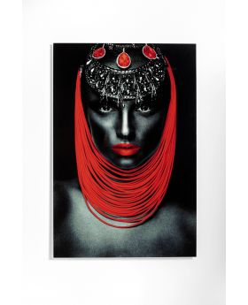 Picture Glass Lady Red Lips 80X120