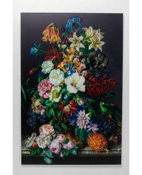 Picture Glass Flower Bouquet 100X150