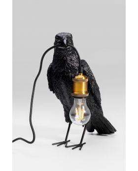 Table Lamp Crow Mat Black