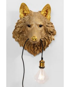 Wall Lamp Wolf Head