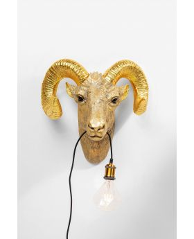 Wall Lamp Goat Head
