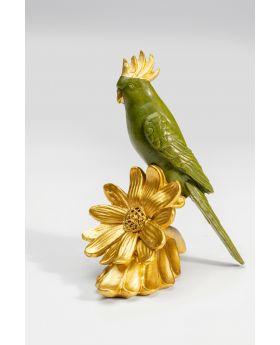 Deco Figurine Flower Parrot