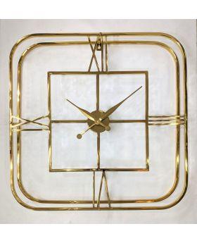 SQ.WALL CLOCK GOLD 76x76x10,5cm
