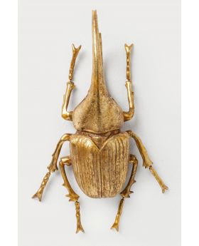 WALL DECORATION HERKULES BEETLE GOLDEN
