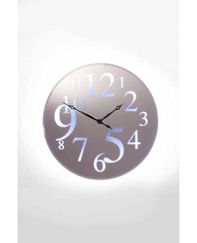 WALL CLOCK WONDERLAND LED 90CMSILVERY
