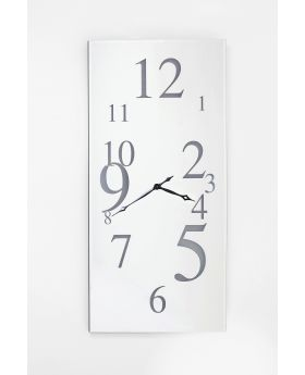 WALLCLOCK WONDERLAND LED RECTANG SILVER