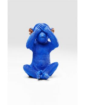 MONEY BOX MONKEY MIZARU BLUE
