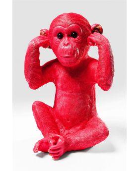 Money Box Monkey Kikazaru Red