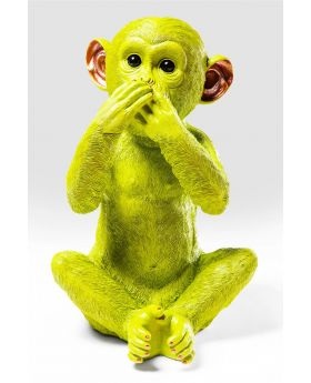 MONEY BOX MONKEY IWAZARU LIMEGREEN