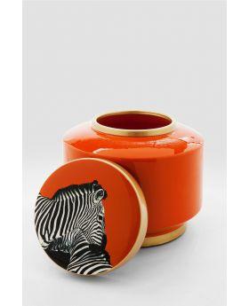 Deco Jar Zebra 19Cmorange
