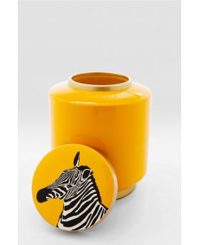 Deco Jar Zebra  25Cmyellow