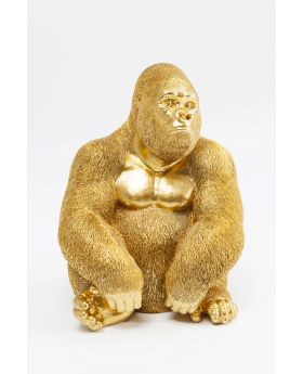 Deco Figur Monkey Gorillaside Xl Ggolden