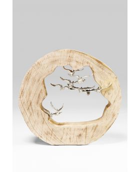 DECO OBJECT BIRDS IN LOG