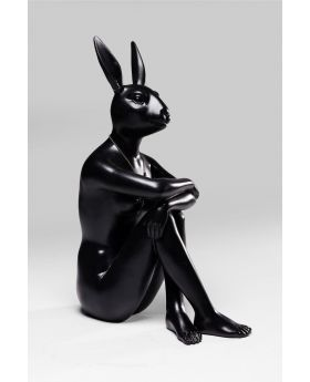 DECO FIGURINE GANGSTER RABBIT BLACK