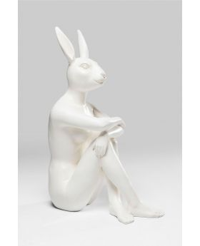 Deco Figurine Gangster Rabbit White
