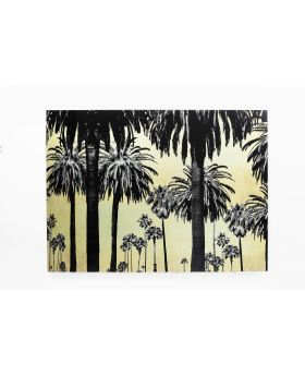 GALLERY GLASS METALLIC PALMS 120X180CM