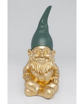 Deco Figurine Zwerg Sitting Gold 42Cm