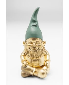 Decofigurine Zwerg Sitting Goldgreen19