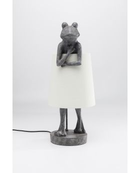Table Lamp Animal Frog Grey (Excluding Bulb)