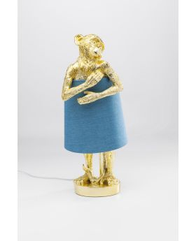 Table Lamp Animal Monkey Gold (Excluding Bulb)