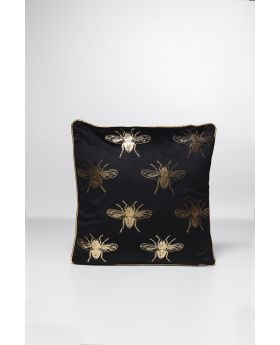 Cushion Bee Black 45X45Cm