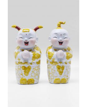 DECO FIGURINE HAPPY KIDS (2/SET)