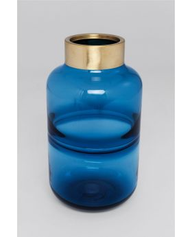 Vase Positano Belly Blue 28Cm