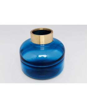 VASE POSITANO BELLY BLUE 21CM