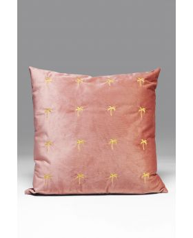 CUSHION PALMS MAUVE 45X45CM
