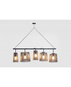 HANGING LAMP GORGEOUS BLACK MAT CINQUE,  (EXCLUDING BULB AND SOCKET)