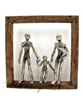 DECO OBJECT FRAME HAPPY FAMILY