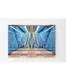 Picture Glass Escalator Show 80X120Cm