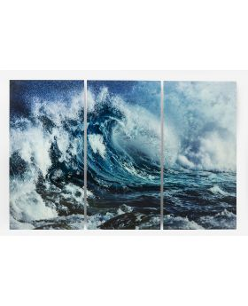 GALLERY PICTURE GLASS TRIPTYCHON WAVE
